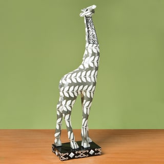 Giraffe Accent Piece -Paisley Leaf Design Tall