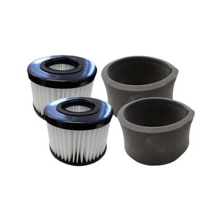 2pk Replacement Foams & 2 Filters, Fits Eureka DCF20, Compatible with Part 79902-4