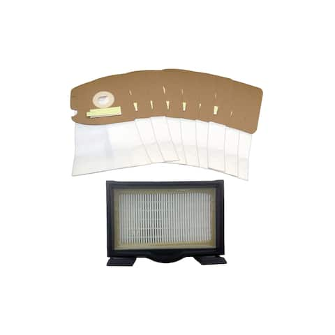 Replacement HF8 Filter & 9 MM Vacuum Bags, Fits Eureka, Compatible w/ Part 60666, 60666A, 60666B, 60666-6, 60295, 60296 & 60297