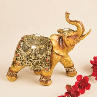 Elephant Ornate Good Luck Decorative Accent Piece