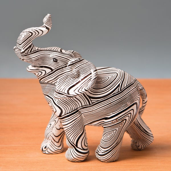 ecd1117cae6e Shop Elephant with Geometric Spiral Swirl Design Accent Piece - Free  Shipping On Orders Over  45 - Overstock.com - 11323127