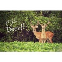 Marmont Hill - 'Ohh Deer' by Robert Dickinson Painting Print on Canvas - Multi-color
