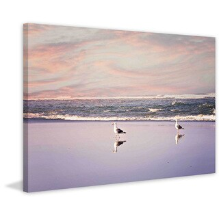 Marmont Hill - '2 Seagulls' by Sylvia Cook Painting Print on Canvas