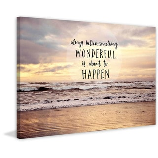 Marmont Hill - 'Always Believe Something Wonderful' by Sylvia Cook Painting Print on Canvas