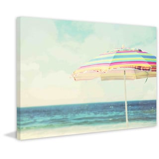 Marmont Hill - 'Beach Life' by Sylvia Cook Painting Print on Canvas