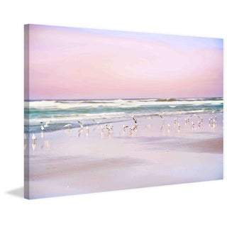Marmont Hill - 'Pastel Beach' by Sylvia Cook Painting Print on Canvas