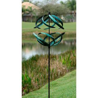 Blue Sphere Wind Spinner