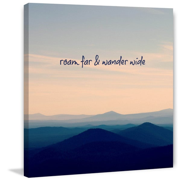 Marmont Hill - 'Roam Far & Wander Wide' by Robert Dickinson Painting Print on Canvas
