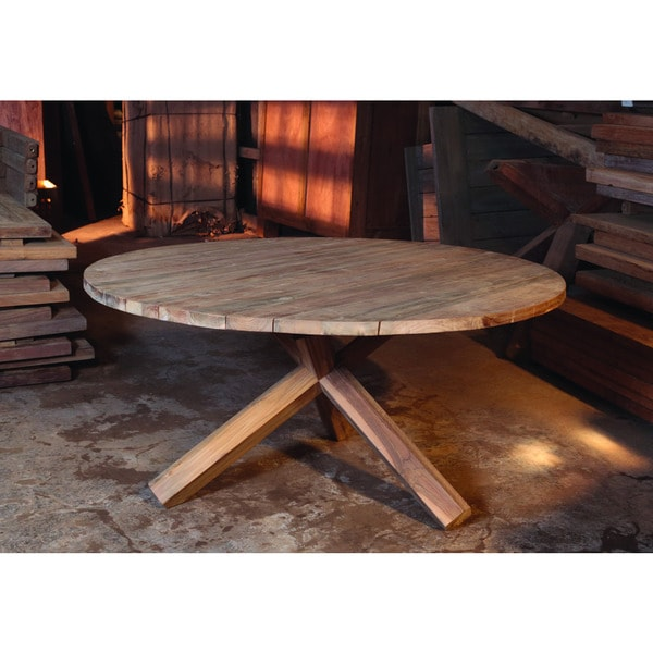 Bora Teak Outdoor Chat Table Free Shipping Today 11323674