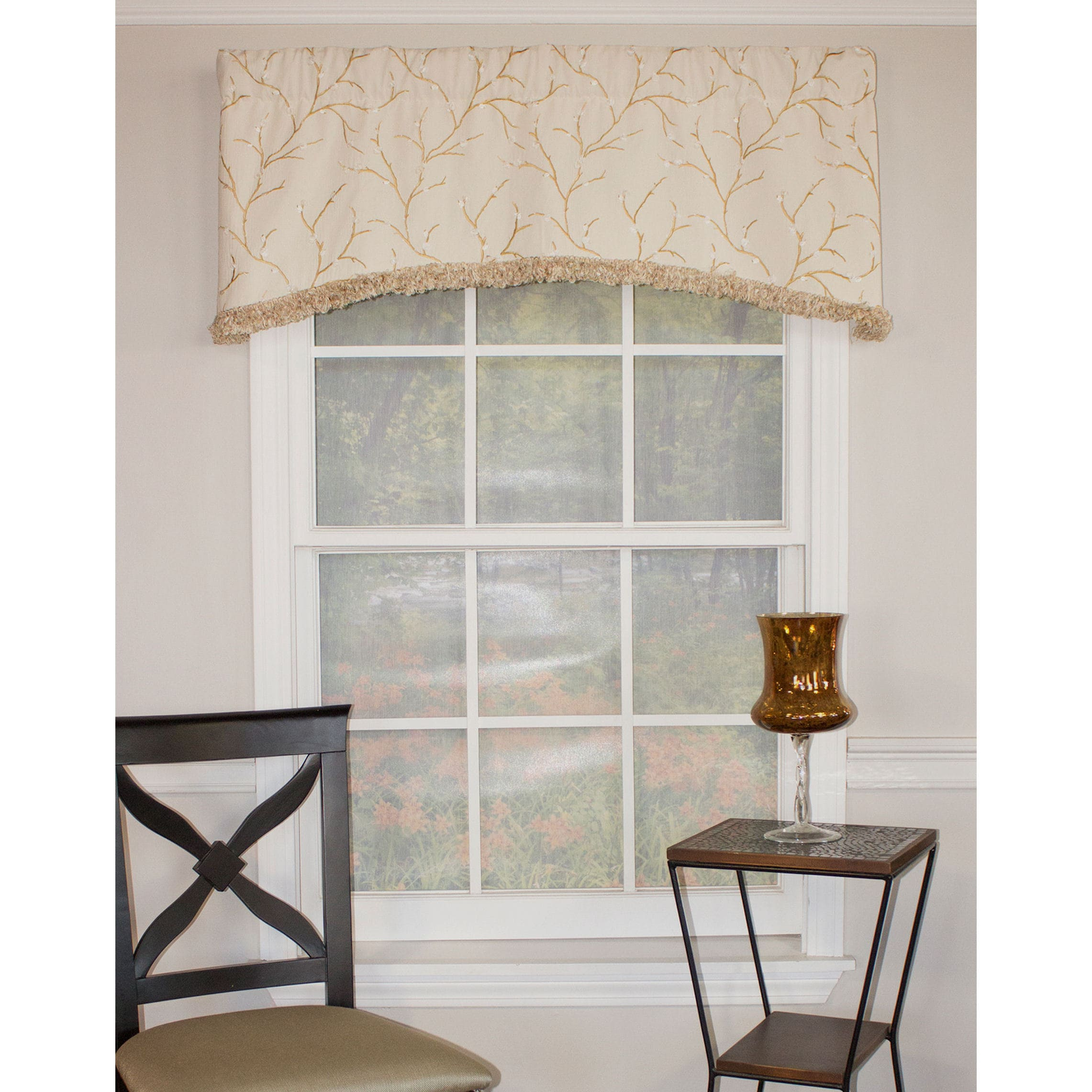 RLF HOME Spring Willow Ivory Arch Cotton Valance (Spring ...