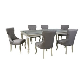 Signature Design by Ashley Coralayne Dark Gray Table and Four Chairs Set
