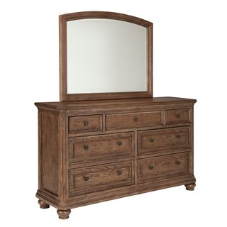 Signature Design by Ashley Maeleen Medium Brown Dresser and Mirror Combo
