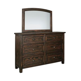 Signature Design by Ashley Trudell Dark Brown Dresser and Mirror Combo