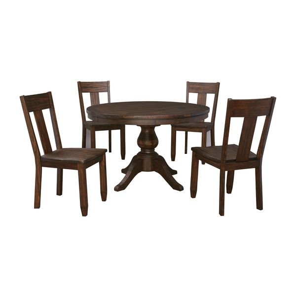 Charming Signature Design By Ashley Trudell Dark Brown Table And Four Chairs Set