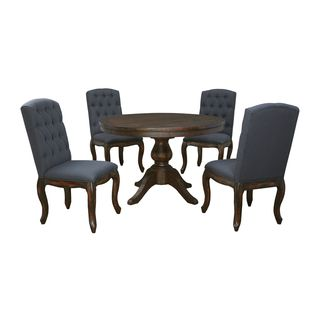 Signature Design by Ashley Trudell Light Brown Table and Four Chairs Set
