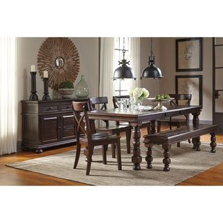 Signature Design by Ashley Gerlane Dark Brown Table and Four Chairs Set
