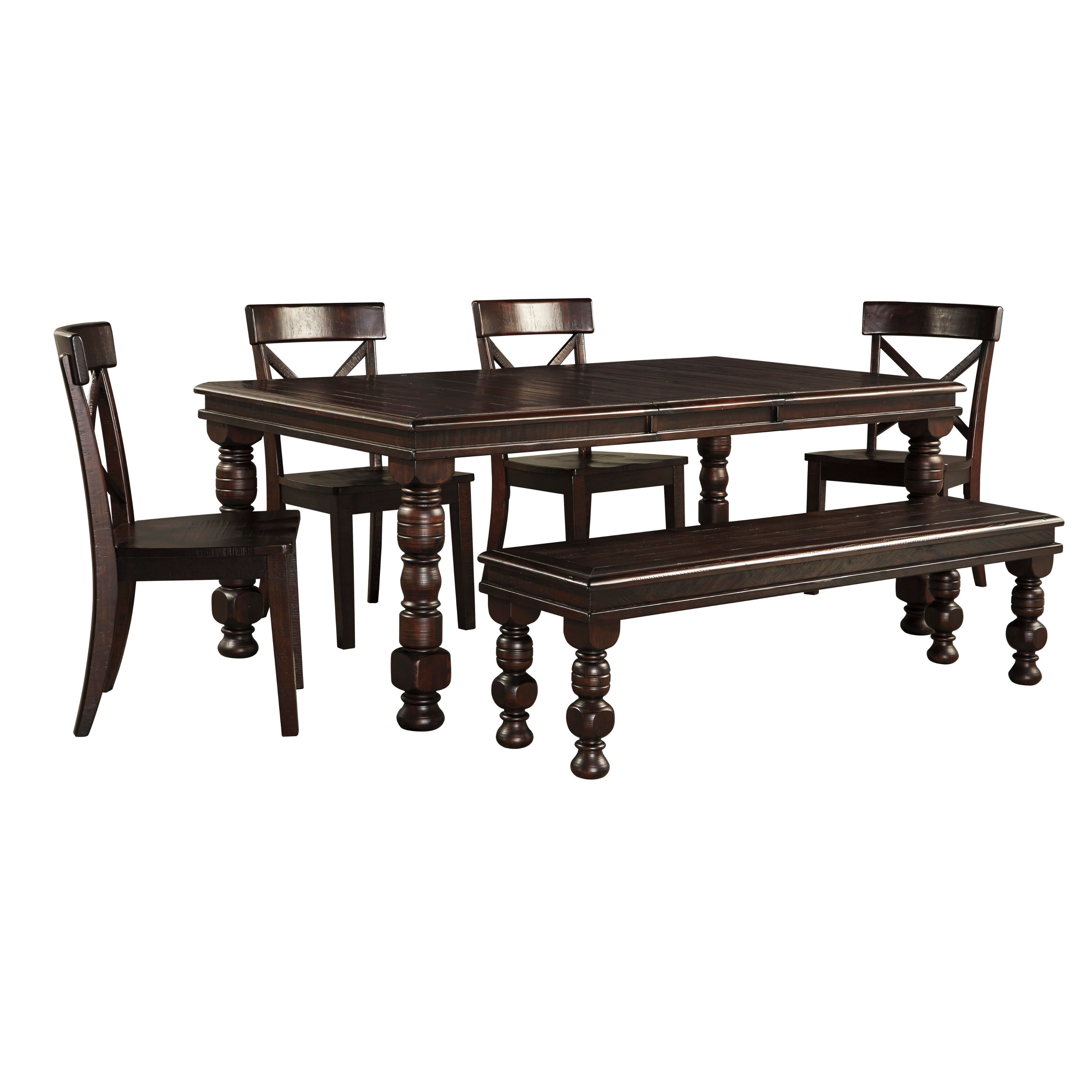 Picture of: Signature Design By Ashley Gerlane Dark Brown Table And Four Chairs Set Overstock 11323721