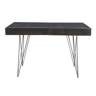 Somette Mango Wood and Iron 2-Drawer Writing Desk