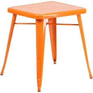 Offex 24-inch Square Metal Indoor-outdoor Restaurant Table