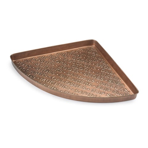 International Multi-Purpose Shoe Tray for Boots, Shoes, Plants, Pet Bowls and More, Copper Finish by Good Directions