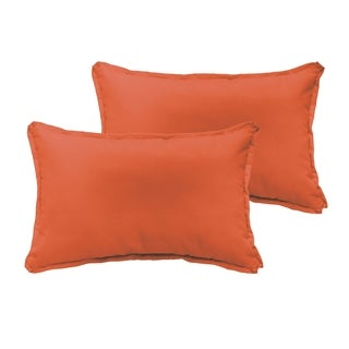 Sloane Mandarin Orange 13 x 20-inch Indoor/ Outdoor Flange Edge Pillow Set