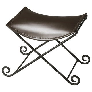 Metalworks Leather Stool