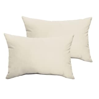 Sloane Ivory 13 x 20-inch Indoor/ Outdoor Knife Edge Pillow Set