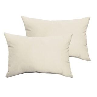 Sloane Ivory 13 x 20-inch Indoor/ Outdoor Knife Edge Pillow Set