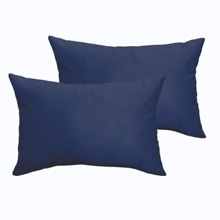 Sloane Dark Blue 13 x 20-inch Indoor/ Outdoor Knife Edge Pillow Set