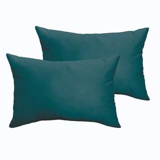 Sloane Teal 13 x 20-inch Indoor/ Outdoor Knife Edge Pillow Set