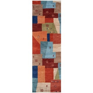 Rizzy Home Mojave Collection Hand-tufted Wool Geometric Runner Rug (2'6 x 8')