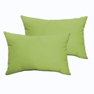 Sloane Apple Green 13 x 20-inch Indoor/ Outdoor Knife Edge Pillow Set