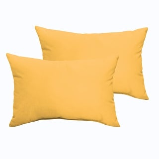 Sloane Butter Yellow 13 x 20-inch Indoor/ Outdoor Knife Edge Pillow Set