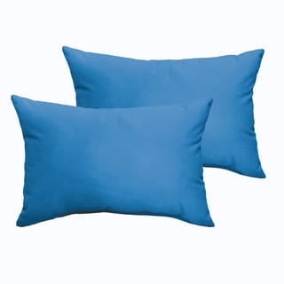 Sloane Light Blue 13 x 20-inch Indoor/ Outdoor Knife Edge Pillow Set