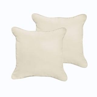 Sloane Ivory 18 x 18-inch Indoor/ Outdoor Corded Edge Pillow Set