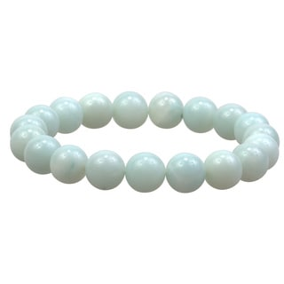 10mm Round Amazonite Gemstone Bead Stretch Bracelet