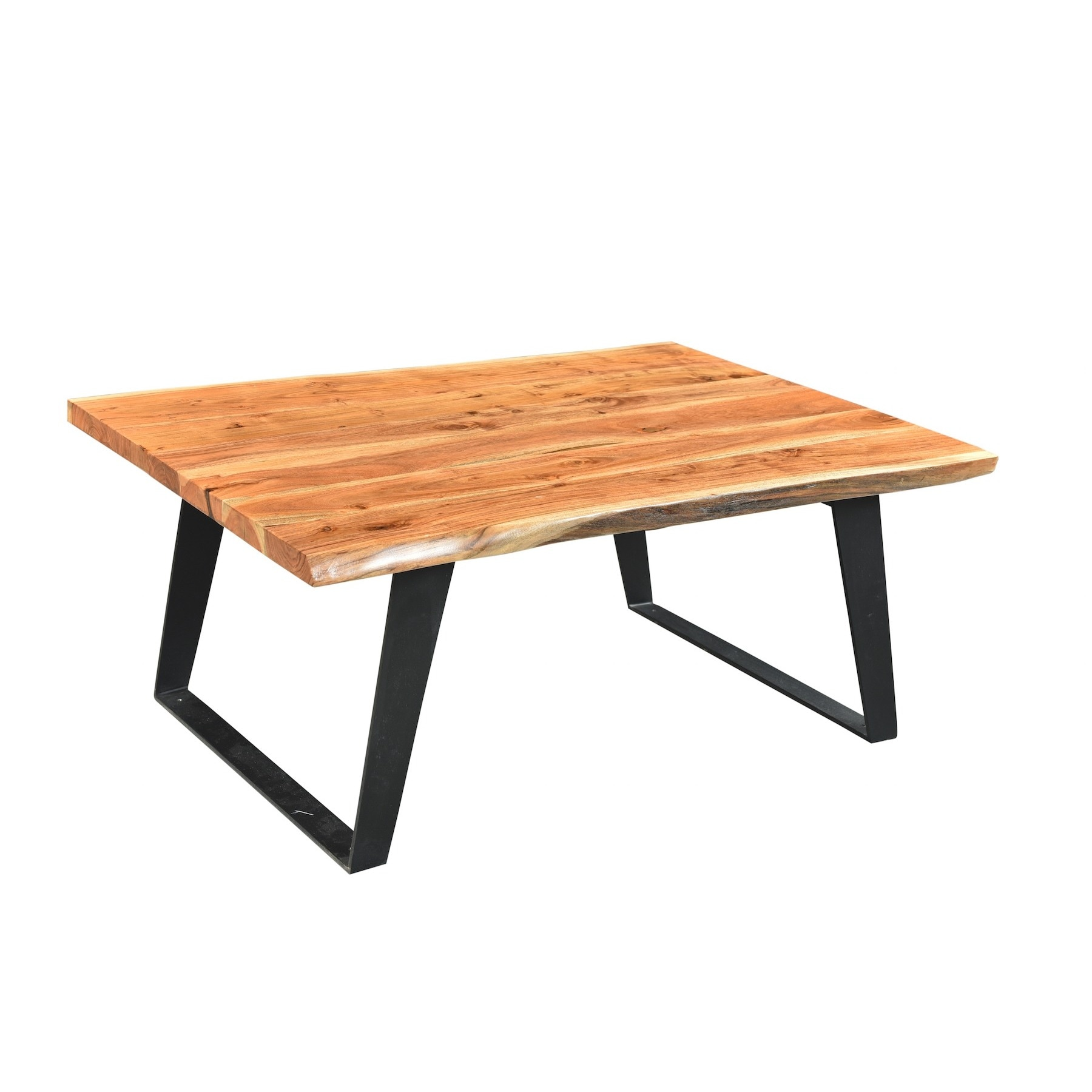 Timbergirl solid wood live edge coffee table (16H x 45W x...