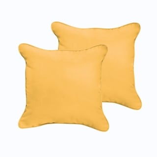 Sloane Butter Yellow 18 x 18-inch Indoor/ Outdoor Corded Edge Pillow Set