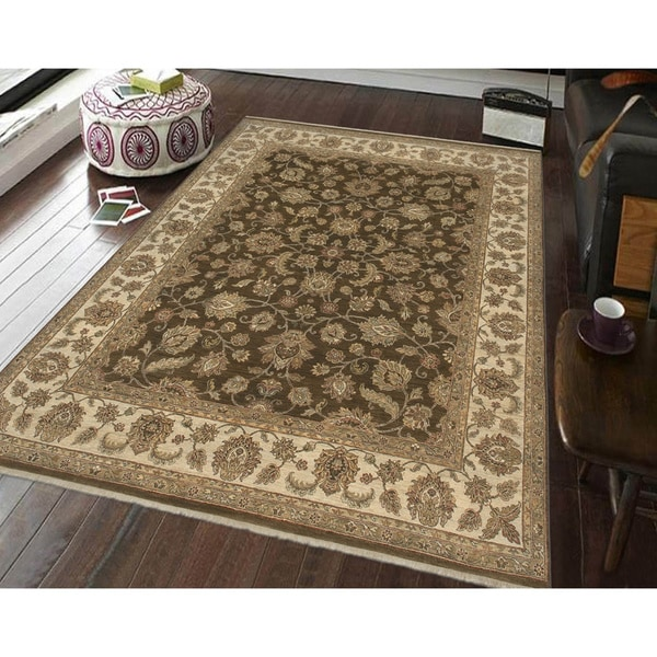 Bethany Brown Traditional Hand-knotted Rug - 9' x 12'