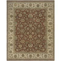 Bethany Red Traditional Hand-knotted Rug - 8' x 10'