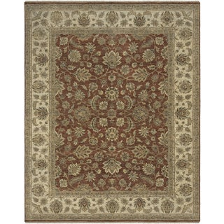 Bethany Red Traditional Hand-knotted Rug (9' x 12')