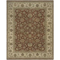 Bethany Red Traditional Hand-knotted Rug - 9' x 12'