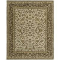 Bethany Beige Traditional Hand-knotted Rug - 8' x 10'