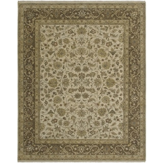 Bethany Beige Traditional Hand-knotted Rug (9' x 12')