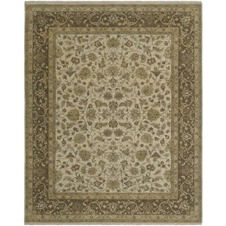 Bethany Beige Traditional Hand-knotted Rug (10' x 14')