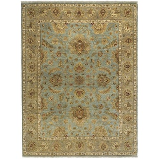 Bethany Blue Traditional Hand-knotted Rug (9' x 12')