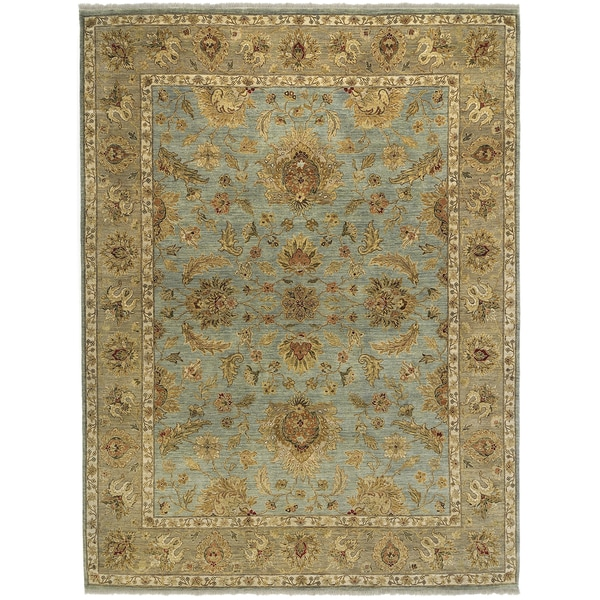 Bethany Blue Traditional Hand-knotted Rug (10' x 14')