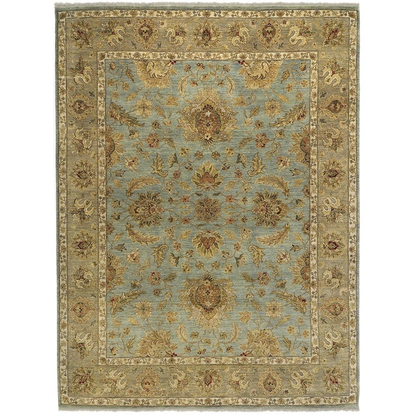 Bethany Blue Traditional Hand-knotted Rug - 10' x 14'