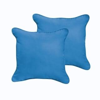 Sloane Light Blue 18 x 18-inch Indoor/ Outdoor Corded Edge Pillow Set