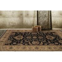Bethany Black Traditional Hand-knotted Rug (9' x 12') - 9' x 12'